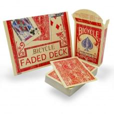 BICYCLE FADED DECK RED